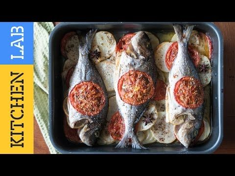 Τσιπούρα πλακί στο φούρνο με λαχανικά | Kitchen Lab by Akis Petretzikis - YouTube