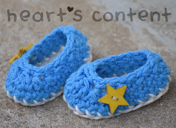 Newborn Crochet Baby Shoes Booties. Baby by HeartsContentByCat