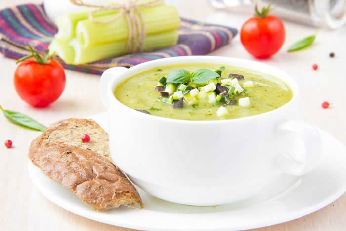 Try our FREE Green Smoothie Challenge!  MEDITERRANEAN SOUP RECIPE (blender soup)