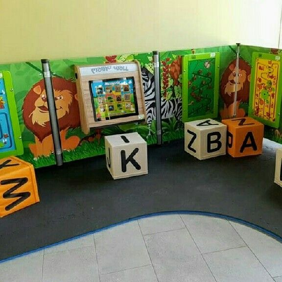 Indoor Playground Concept Incl Touch Screen Play System Magic Wall With  Golden Craft Oak