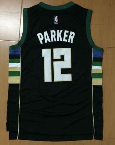 #12 Jabari Parker Milwaukee Bucks new jersey Black