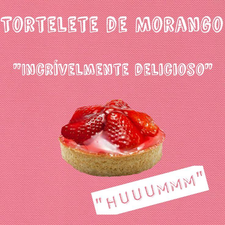 ESPECIALIDADE LIBE CONFEITARIA: TORTELETE DE MORANGO  Recheado com brigadeiro e nata, com base amanteigada, coberta com morangos
