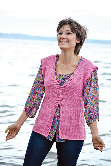 Ravelry: Winding Roads Vest pattern by Mary Crowley
