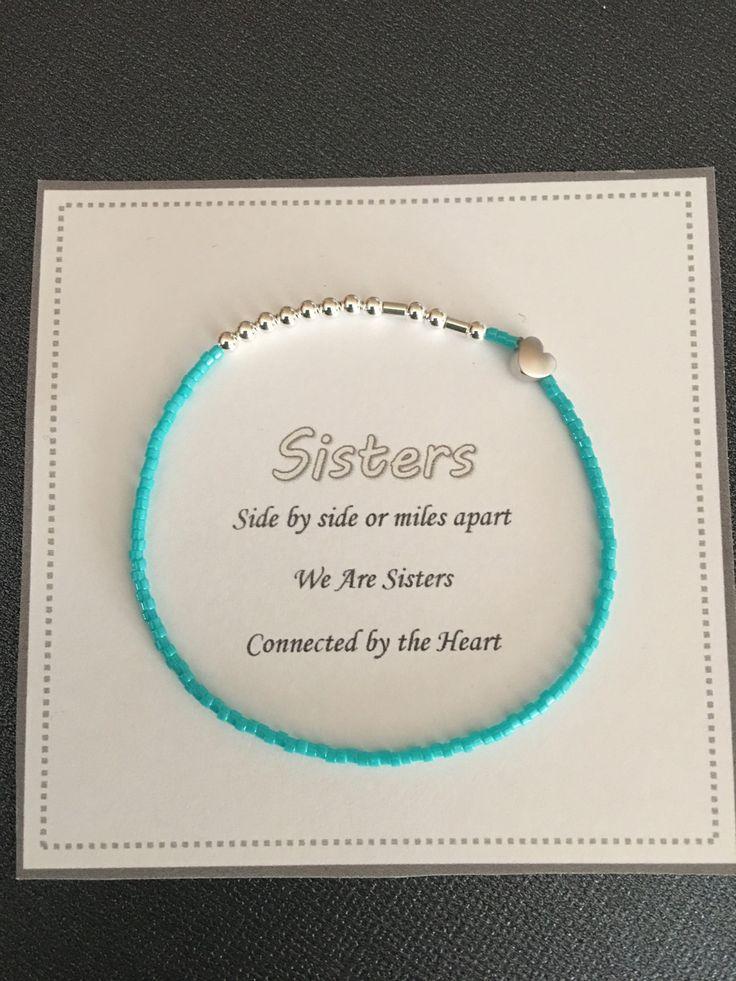 Sister bracelet,Morse code ,Beaded bracelet,Bracelet for her,Women's bracelet, Jewelry,Birthday gift, Sister gift,women's gift ,Minimalist by QberryCreations on Etsy