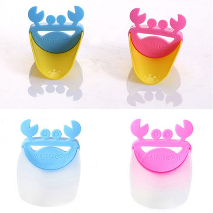 2016 New Arrivals Wholesale 3Pcs/lot Novelty Crab For Kid Toddler Bathroom Sink Washing Hands Faucet Extender Tool Free Shipping alishoppbrasil