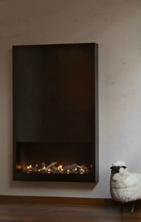 Design by Peter Marino. Could easily be adapted for Dimplex Optimyst cassette electric #fireplace.
