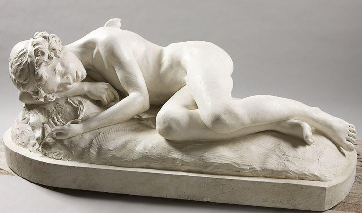 Natalia Andriolli, Śpiący amor (Amor z lilią) 1896