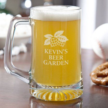 Beer Garden Personalized Beer Mug, 15 oz, Clear