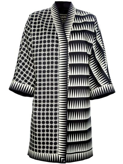 Fausto Puglisi Printed Oversized Coat