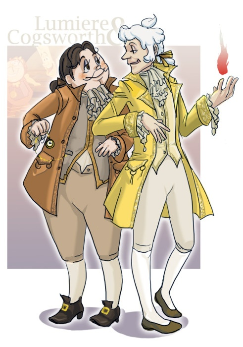 Cogsworth Lumiere In Historically Correct Costumes