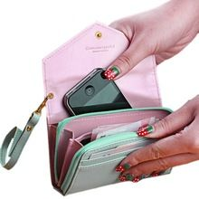 Big Sale! 2015 New Arrival Fashion Lady Women Leather Purse Phone Wallet Short…