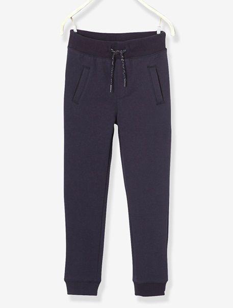 Pantalon de sport fille en molleton - Bleu outremer+Gris moyen+Rose vif - 1