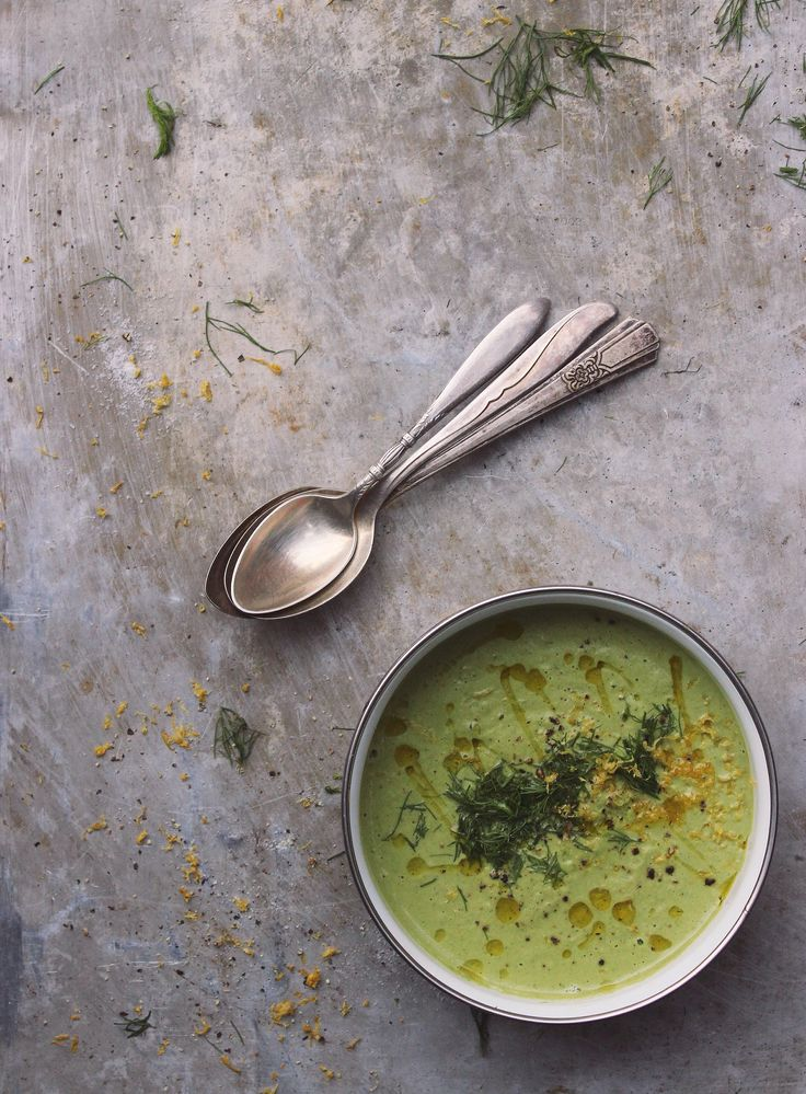 Broccoli Fennel Soup infused with kale, meyer lemon and loads of black pepper. Naturally gluten-free, dairy-free + vegan.