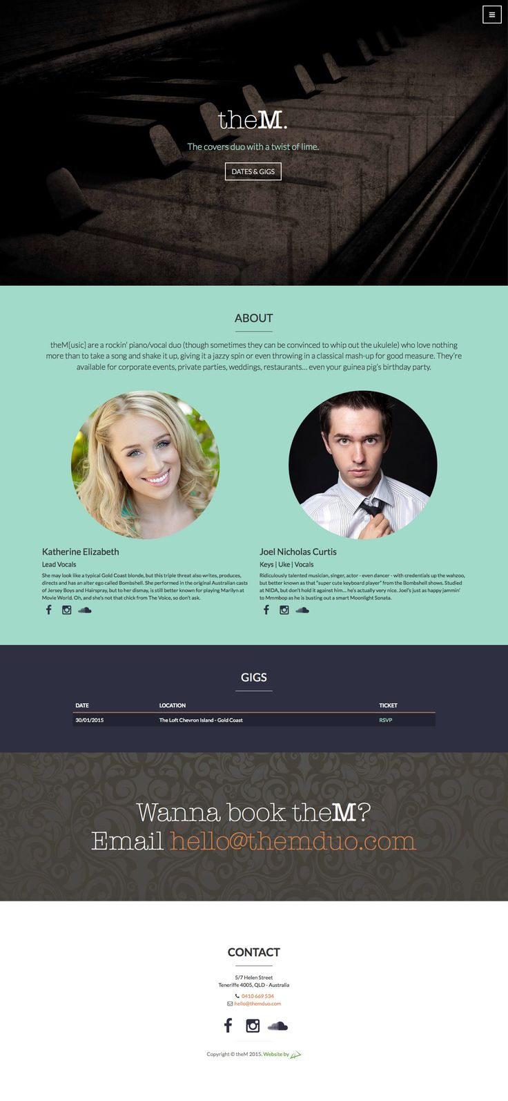 Landing page for theM. duo