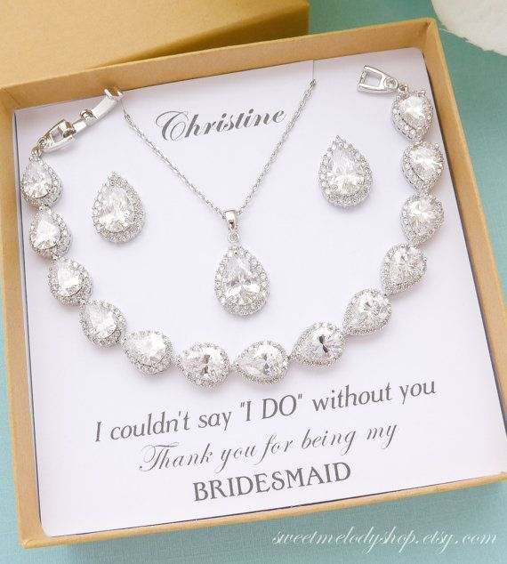 Bridesmaid Jewelry Set Bridesmaid Gift Bridesmaid Jewelry Personalized Bridesmaid In 2020 Wedding Bridesmaid Jewelry Etsy Bridesmaid Gifts Wedding Bridal Jewellery