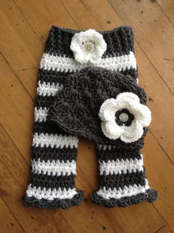 Newborn shell hat and Pants set for girl by ...
