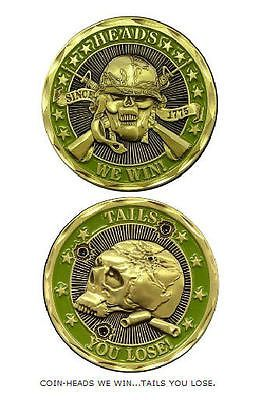 U.S. ARMY HEADS WE WIN TAILS YOU LOOSE CHALLENGE COIN 2464