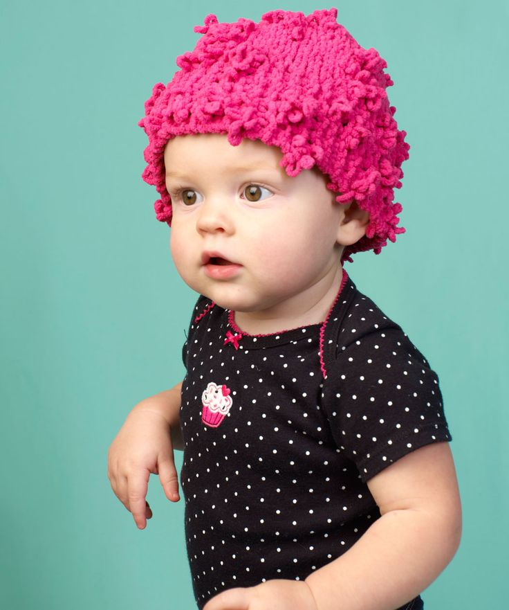 Adorable Baby Hat Free Knitting Pattern from Red Heart ...