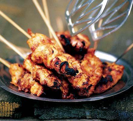 Chicken satay. 183 kcalories