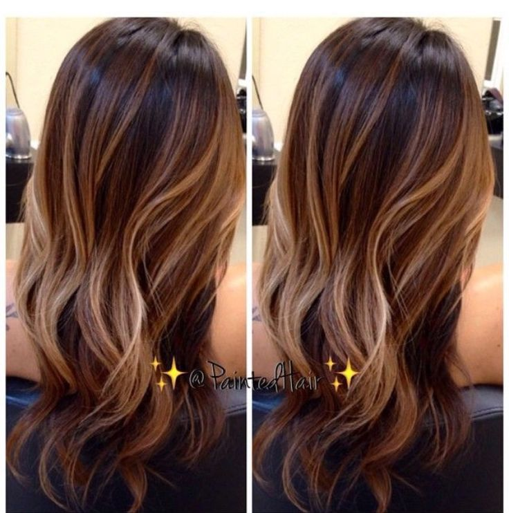 chocolate brown base with balayage highlights hair color. Black Bedroom Furniture Sets. Home Design Ideas