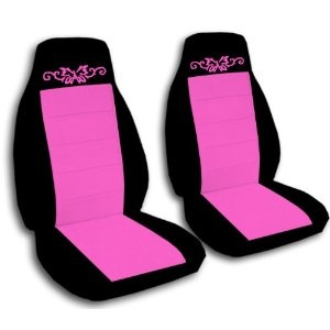 1997 Jeep Wrangler TJ seat covers. One front set of seat covers. Black and hot pink butterfly tatto seat covers --- http://www.amazon.com/Wrangler-covers-front-butterfly-covers/dp/B0049MFLY0/?tag=wwwdancadoven-20