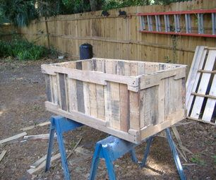 Planter from pallets, no nail pull method (Instructables - step by step)