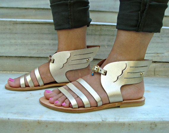 Greek sandals Leather sandals Strappy sandals by OhSoGreek on Etsy
