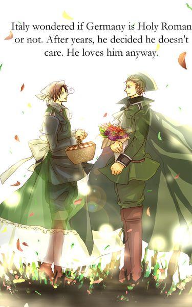 """""""Italia se preguntó si Alemania era Sacro Imperio Romano o no. Luego de años, él decidió que no le importaba. Él lo ama de cualquier forma."""""""
