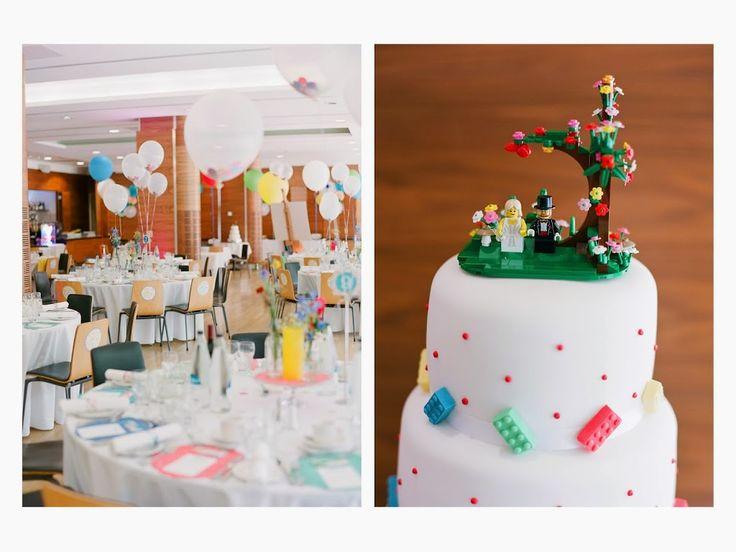 Lego Polka Dot Wedding Cake - Little Bear Cakery