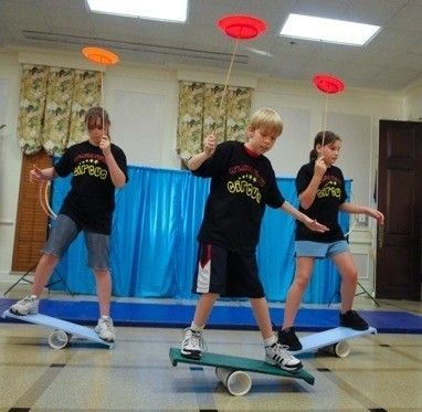 """Children and adults ages 5 and up are invited to attend a """"Big Top Blast"""" with Orlando Youth Circus. Learn juggling, plate spinning, creative movement and group acrobatics in a one hour class. Space is limited, so arrive early. FREE. Brought to you by the Friends of the Leesburg Public Library."""