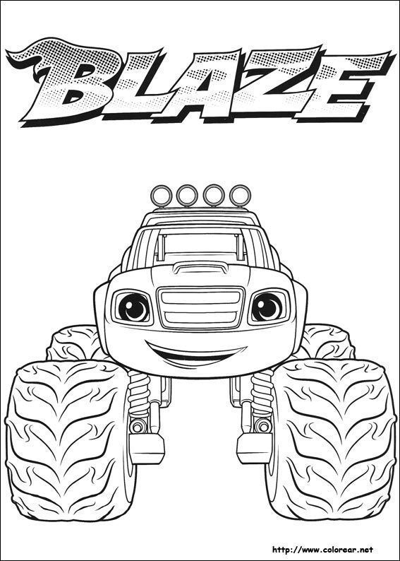 Blaze Y Los Monster Machine Para Colorear Caricaturas Para