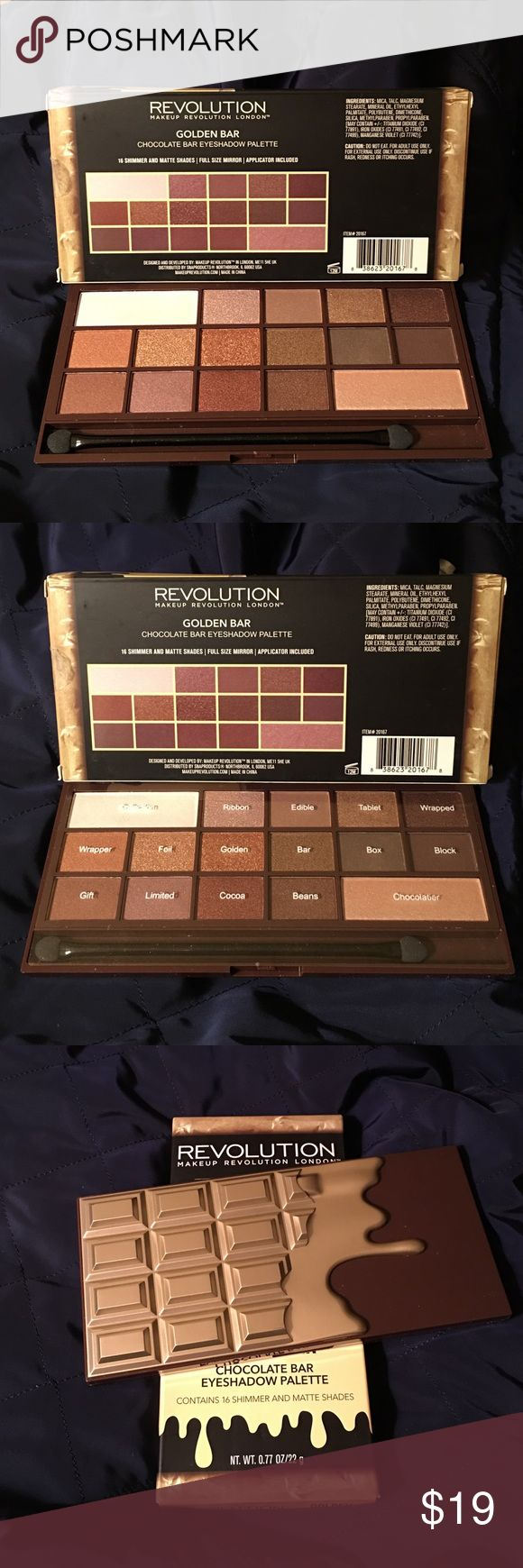 Makeup revolution golden bar eyeshadow palette makeup revolution s most luxurious chocolate bar palette yet this