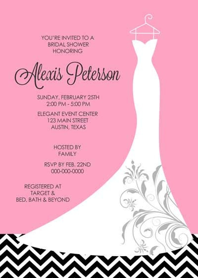 73 best Invitations - Bridal Shower images on Pinterest - bridal shower invitation samples