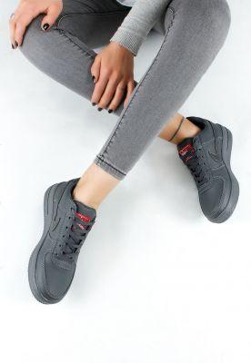 Gri Cilt Bayan Bağcıklı Spor Ayakkabı ÜRÜN KODU : EB-AKK0328547 FİYAT:78,84 TL