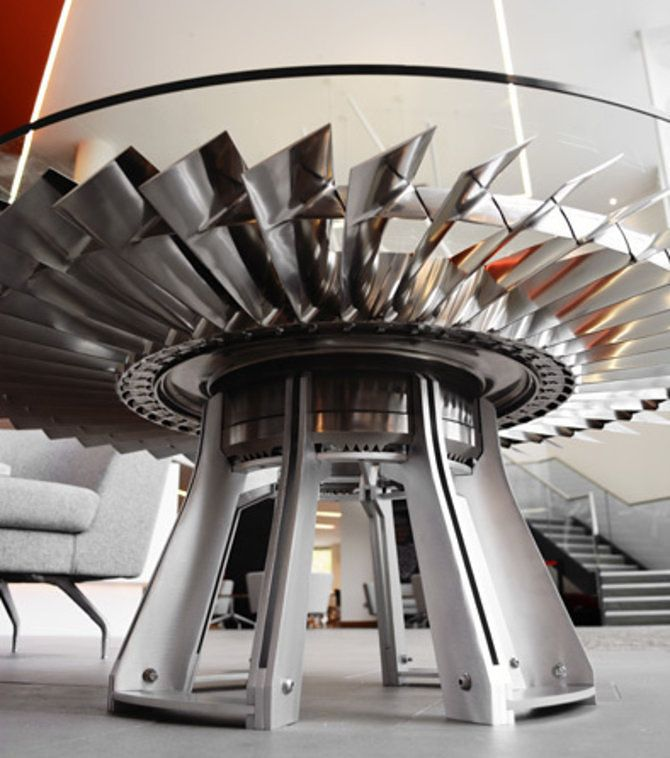 Can't Figure Out What To Do With Your Spare Jet Engines? Make Them Into  Tables.