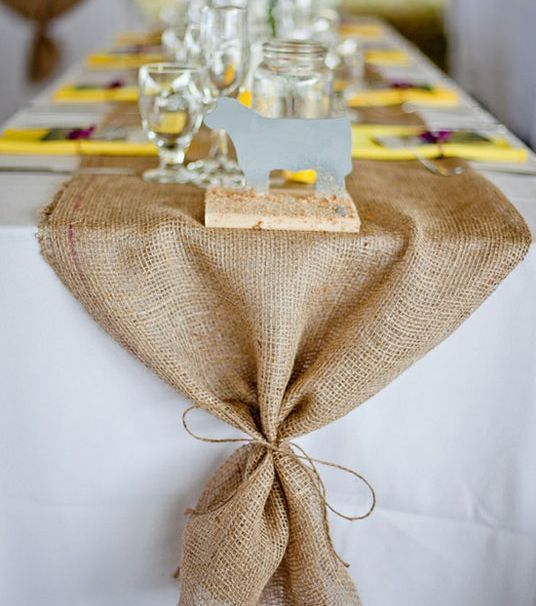 burlap table runners & tablecloths