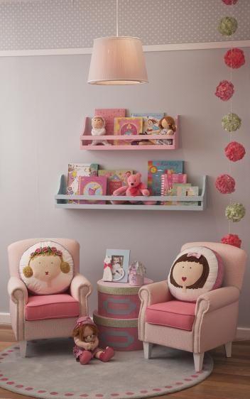 Ideas de libreros infantiles...una idea de montar una pequeña biblioteca en casa