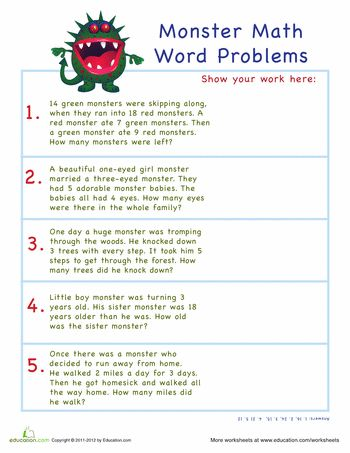 11 best word problem games images on Pinterest Math word - sample word problem worksheets