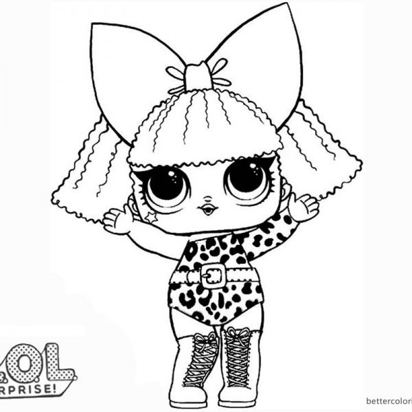 Lol Surprise Doll Coloring Pages Diva Unicorn Coloring Pages Lol Dolls Baby Coloring Pages