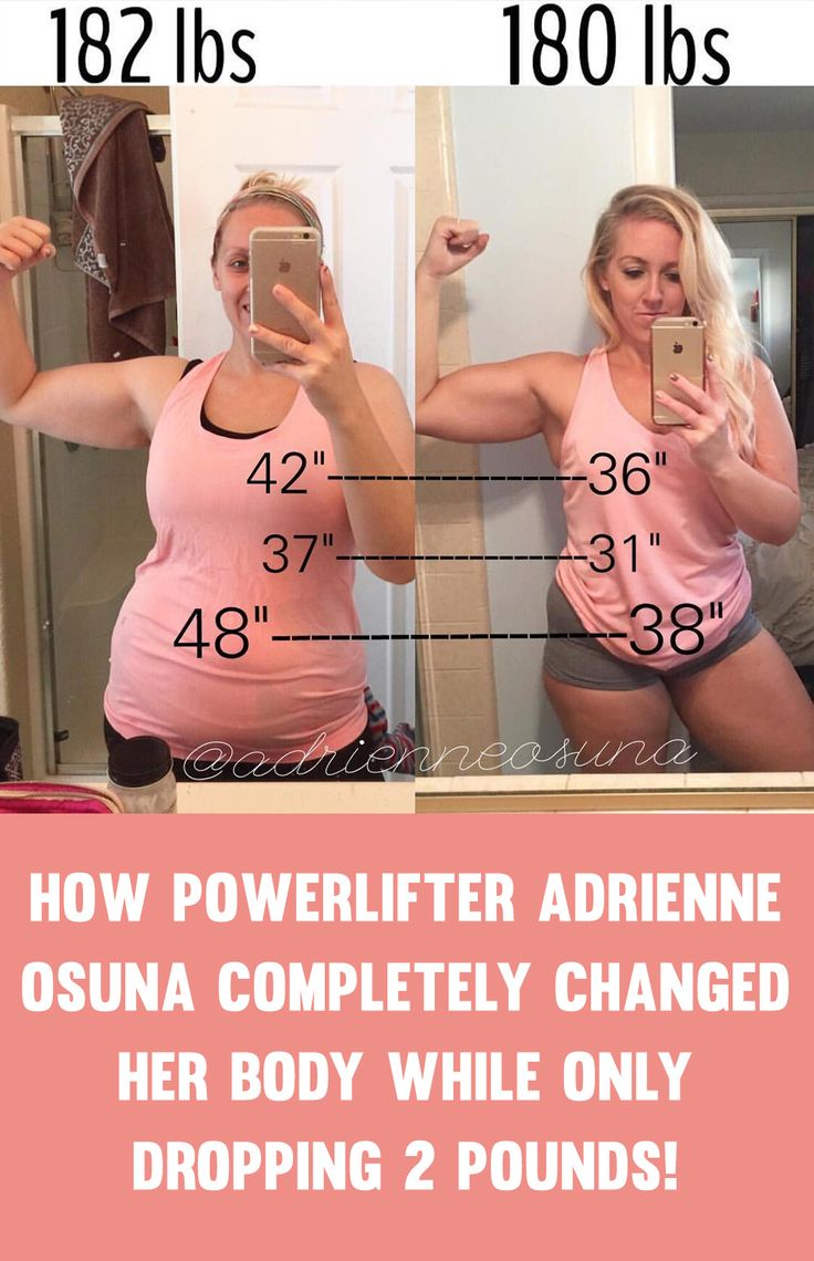 How Powerlifter Adrienne Osuna Completely Transformed Her Body While Only Dropping 2 Pounds!