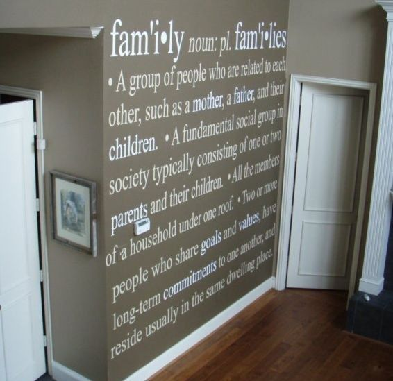 Loving the use of Uppercase Living vinyl on this wall!
