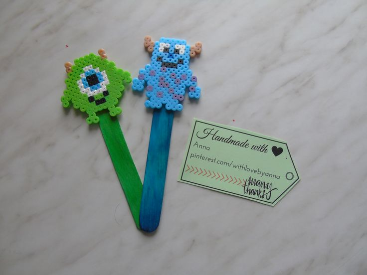 Bookmark midi hamabeads Monsters & CO Mike Wazowski and Sulley  Segnalibro midi hamabeads Monsters & CO Mike Wazowski e Sulley  #MonstersCO #mikewazowski #sulley #Hamabeads #bookmark #heart #hamaboncuk #minions #hamabeads #fattoamano #segnalibro #hamaboncuk #boncuk #diy #pixelart #pyssla #evyapimi #elyapimi #minnions #hobby #hama #perlerbeads #perler #beads #handmade #perlerbead #hamabead #pixelbeads #handmadewithlove #perlers
