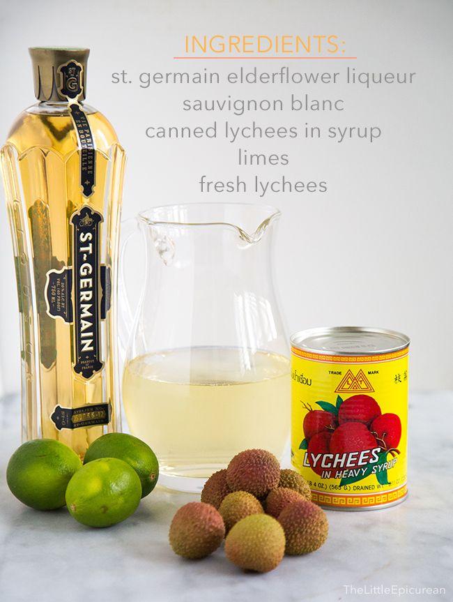 Lychee Sangria Ingredients
