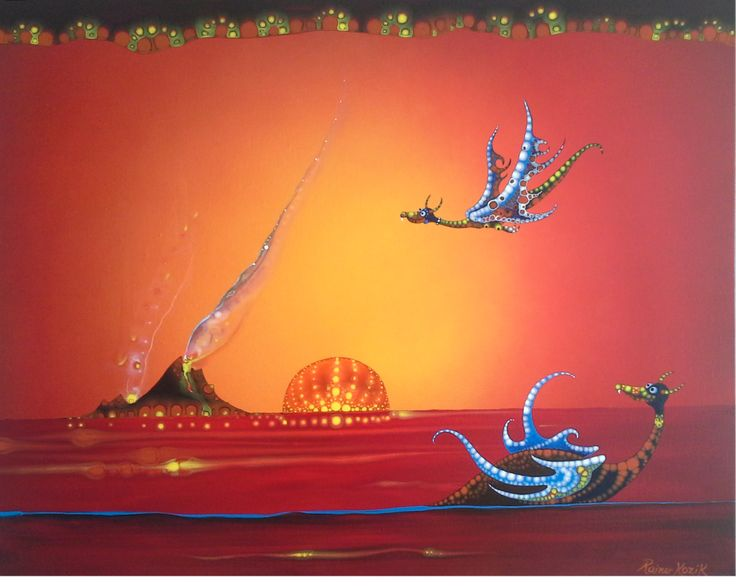 DRAGON MAGICK  - original artwork by Rainer H. Kozik www.kozikart.com