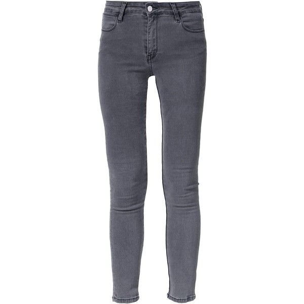 Brocken Bow super skinny jeans (€190) ❤ liked on Polyvore featuring jeans, grey, grey jeans, skinny fit jeans, grey skinny jeans, gray skinny jeans and skinny jeans