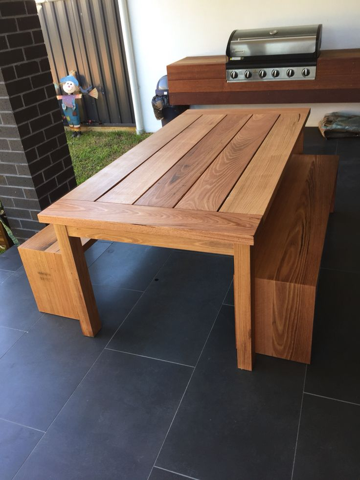 Recycled hardwood timber outdoor setting with bench seats