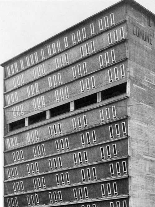 piero bottini - city hall of sesto san giovanni, italy, 1966
