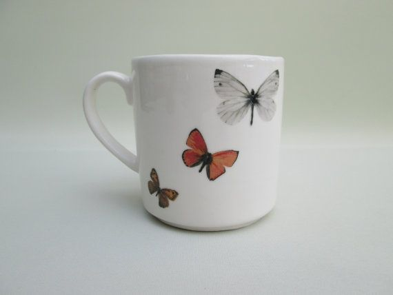 Handcrafted Mug of Butterflies by Sophie Bruen Ceramics!