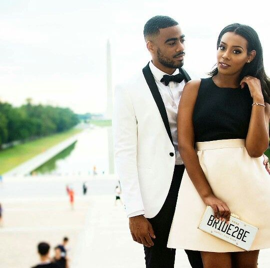 Engagement photos black bride groom washington dc elegant