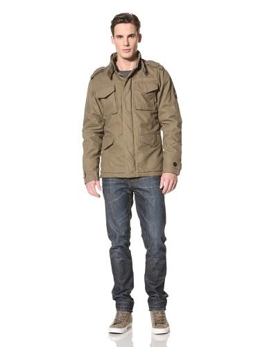 80% OFF No Excess Men's Canvas Utility Coat (Khaki)